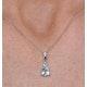 Stellato Collection Blue Topaz Diamond Necklace in 9K White Gold - image 3