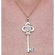 Allura Collection Key Diamond Pendant 0.07ct in 9K Gold - image 3