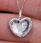 White Topaz and Diamond Stellato Pendant Necklace in 9K White Gold - image 3