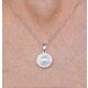 Pearl and Diamond Halo Stellato Pendant in 9K White Gold - image 3