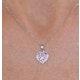 Pink Sapphire Diamond Stellato Heart Pendant in 9K White Gold - image 3