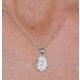 Stellato Collection Diamond Hamsa Pendant 0.13ct 9K in White Gold - image 3