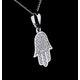 Stellato Collection Diamond Hamsa Pendant 0.13ct 9K in White Gold - image 4