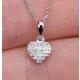 Stellato Collection Diamond Heart Pendant 0.04ct in 9K White Gold - image 3