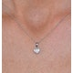 Stellato Collection Diamond Heart Pendant 0.04ct in 9K White Gold - image 4