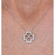 4 Leaf Clover Diamond Necklace in 9K White Gold - Stellato Collection - image 3