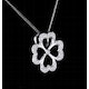 4 Leaf Clover Diamond Necklace in 9K White Gold - Stellato Collection - image 4