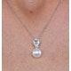 6mm Pearl Blue Topaz and Diamond Stellato Pendant in 9K White Gold - image 3