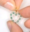 Emerald 0.54CT And Diamond 9K Yellow Gold Heart Pendant Necklace - image 4