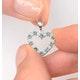 Emerald 0.54CT And Diamond 9K White Gold Pendant - image 4