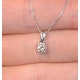 0.25ct Diamond Solitaire Chloe Solitaire Necklace in 9K White Gold - image 3
