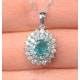 Emerald 0.75CT And Diamond 9K White Gold Pendant - image 3