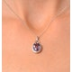Amethyst 2.34CT And Diamond 9K White Gold Pendant - image 4