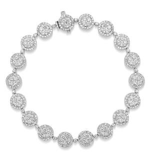 Halo Bracelet with 5CT of Diamonds in 18K White Gold - J3353