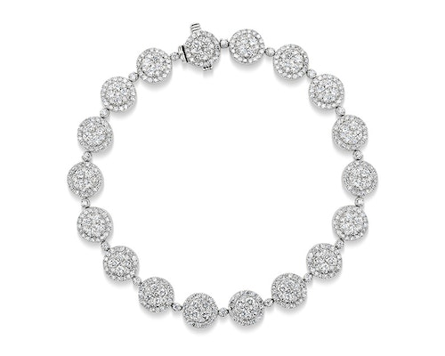 Halo Diamond Bracelets