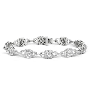 5ct and 18K White Gold Diamond Bracelet -  J3354
