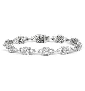 5ct and 18K White Gold Diamond Bracelet -  J3354