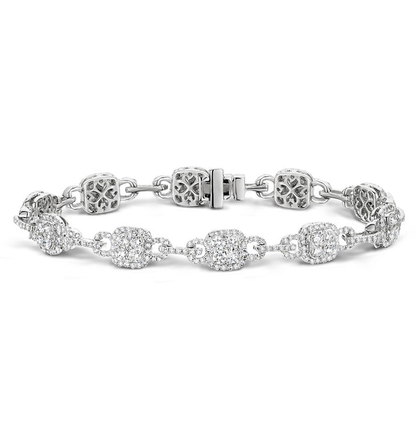 5ct and 18K White Gold Diamond Bracelet -  J3354 - image 1