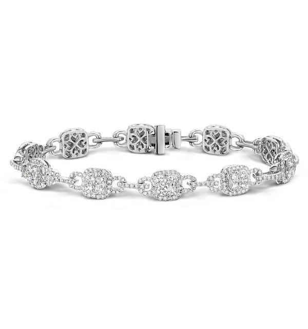 5ct and 18K White Gold Diamond Bracelet -  J3354 - image 1
