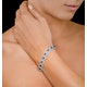 Diamond Halo and Sapphire Bracelet in 18K White Gold Bracelet J3357W - image 2