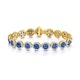 Diamond Halo and Sapphire Bracelet Set in 18K Gold Bracelet J3357 - image 1