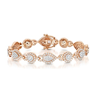 Diamond Bracelet Pyrus Halo 5CT in 18K Rose Gold - J3358