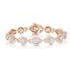 Diamond Bracelet Pyrus Halo 5CT in 18K Rose Gold - J3358 - image 1