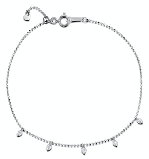 Vivara Collection 0.20ct Diamond and 18K White Gold Bracelet J3359