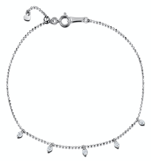 Vivara Collection 0.20ct Diamond and 18K White Gold Bracelet J3359 - image 1