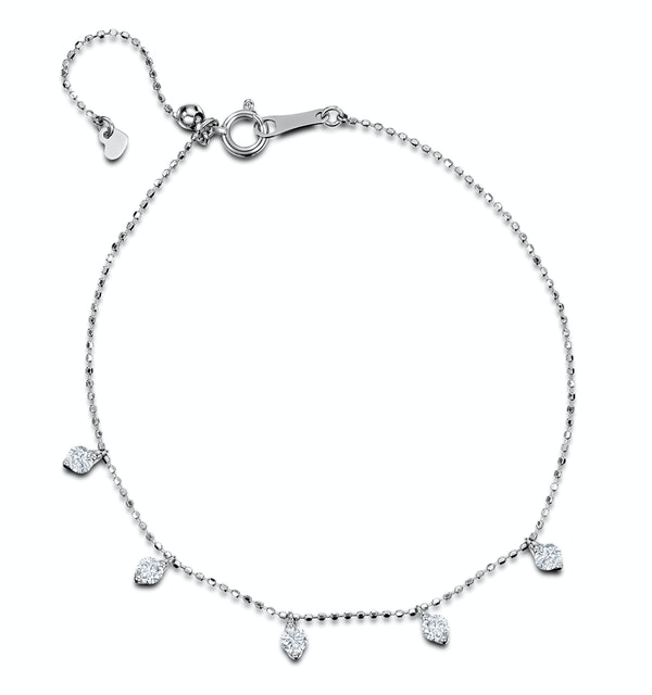 Vivara Collection 0.45ct Diamond and 18K White Gold Bracelet J3350 - image 1
