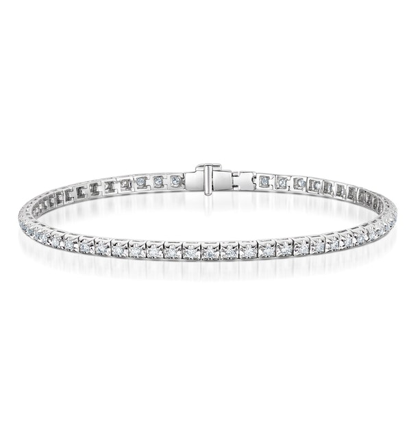 Diamond Tennis Bracelet 1.00ct in 18K White Gold J3351 - image 1
