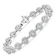 Diamond Halo Bracelet  3.75ct in 18K White Gold - Asteria Collection - image 3