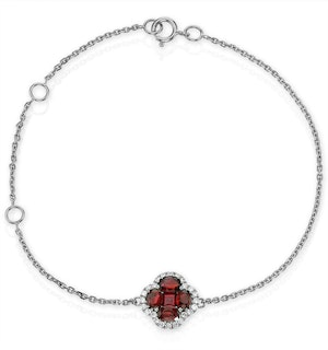 Ruby 1.18ct And Diamond 18K White Gold Alegria Bracelet