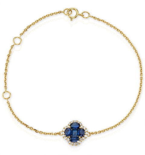 Sapphire 1.11ct And Diamond 18K Yellow Gold Alegria Bracelet - image 1