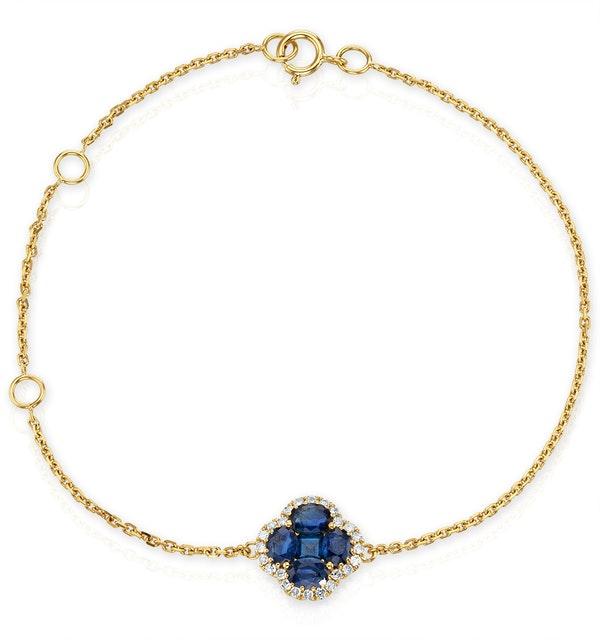 Sapphire 1.11ct And Diamond 18K Yellow Gold Alegria Bracelet - image 1