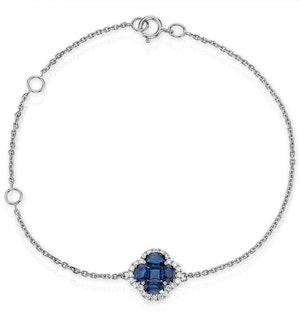 Sapphire 1.11ct And Diamond 18K White Gold Alegria Bracelet