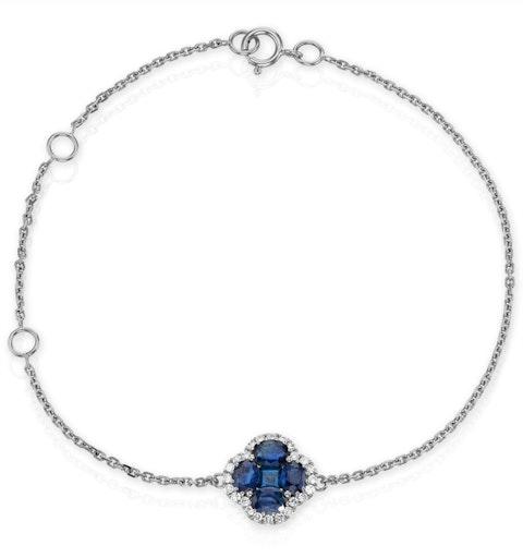 Sapphire 1.11ct And Diamond 18K White Gold Alegria Bracelet - image 1