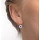 Amethyst 0.57CT And Diamond 9K White Gold Earrings - image 4