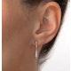 Small Drop Earrings 0.12ct Diamond 9K Yellow Gold - image 4