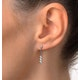 Small Drop Earrings 0.12ct Diamond 9K White Gold - image 4
