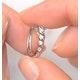 Hoop Earrings 0.07ct Diamond 9K White Gold - image 3