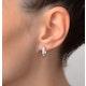 Hoop Earrings 0.07ct Diamond 9K White Gold - image 4