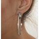 Hoop Earrings 0.40ct Diamond 9K White Gold W2 X L48mm - image 4