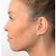 Diamond Hoop Earrings 0.20ct 9K White Gold - image 3