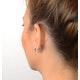 Diamond Hoop Earrings 0.20ct 9K White Gold - image 4
