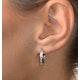 Hoop Earrings 0.25ct Diamond 9K White Gold - image 4