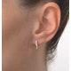 Hoop Earrings 0.11ct Diamond 9K Gold - image 4
