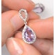 Amethyst 2.47CT And Diamond 9K White Gold Earrings - image 4