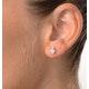 Aquamarine 0.80CT And Diamond 9K Yellow Gold Earrings - image 4