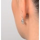 Aquamarine 3.69CT And Diamond 9K White Gold Earrings - image 4